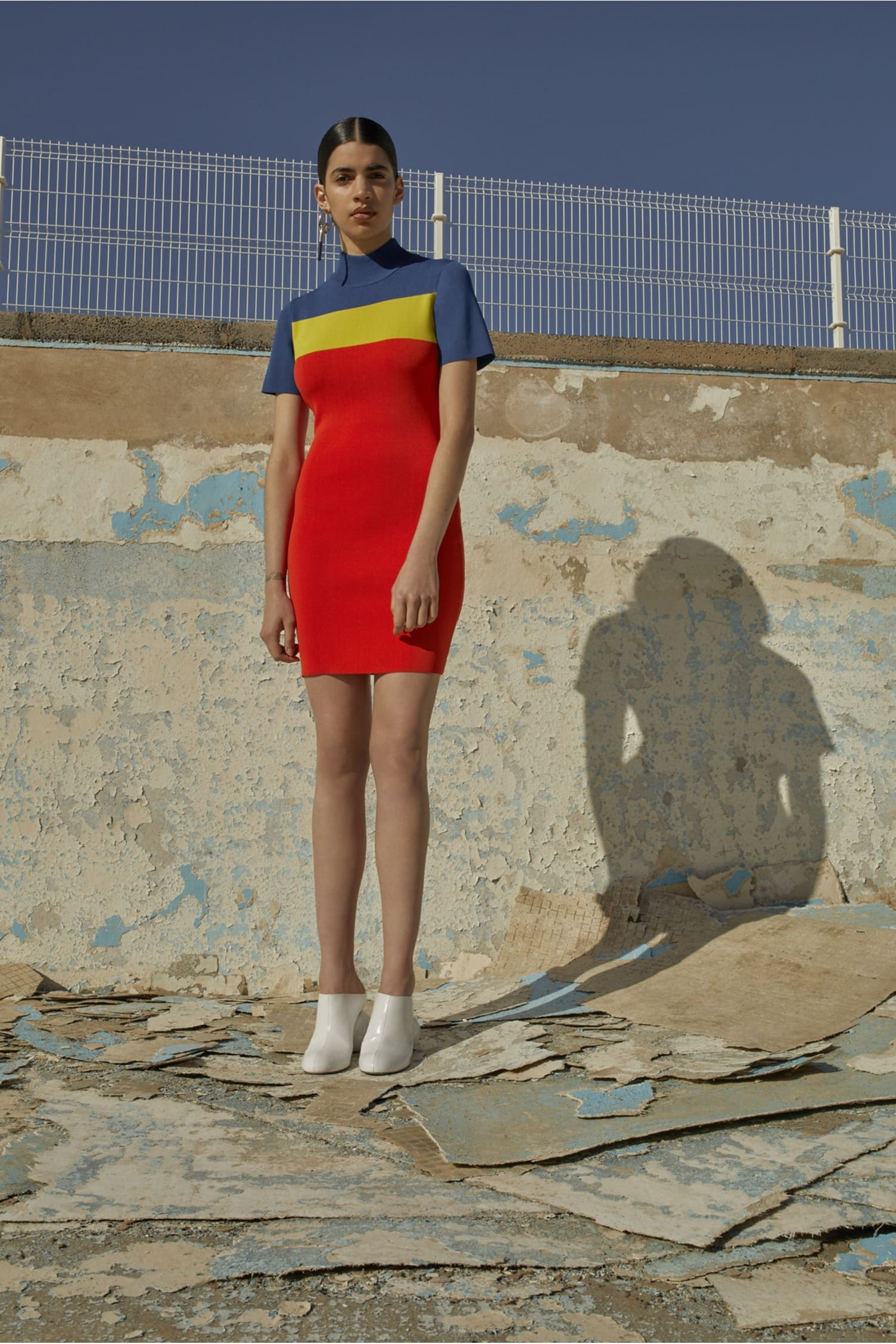 Manon Dress Blue/Yellow/Red