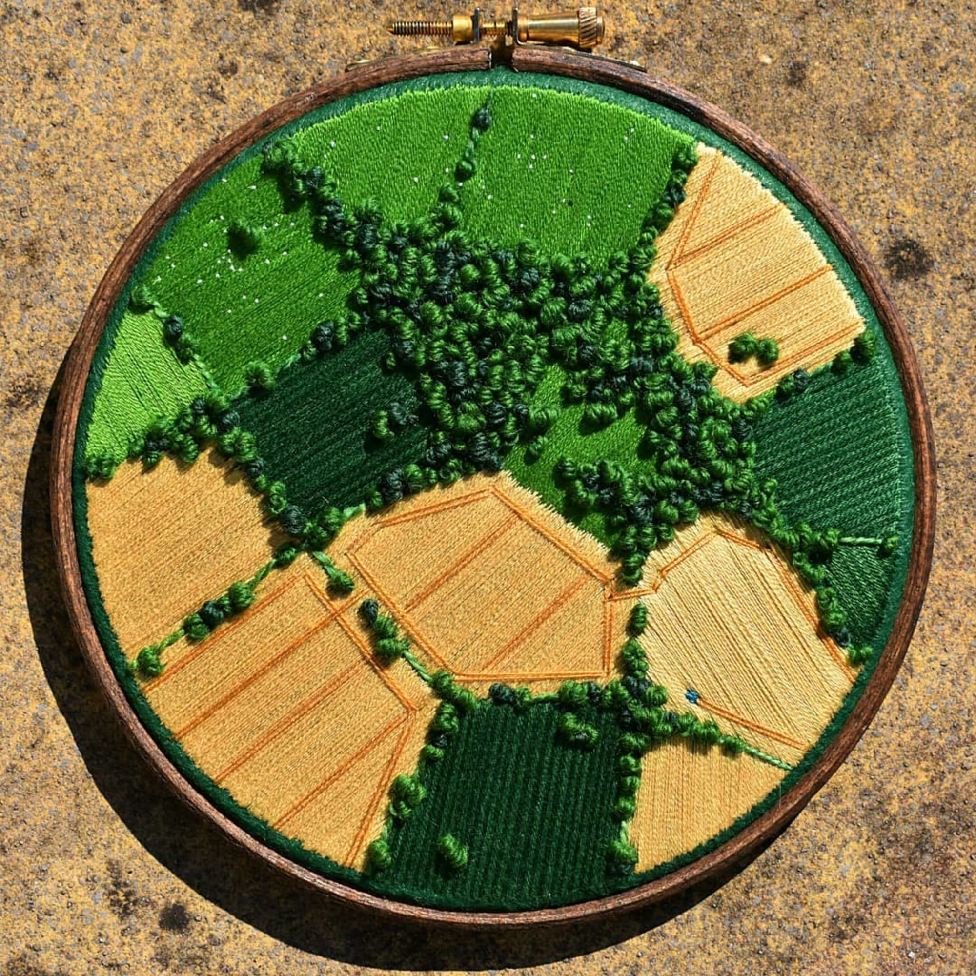 Aerial embroidery