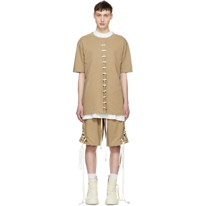 Beige Straight String T-Shirt D.Gnak Buy Cheap Browse F4MZkFp