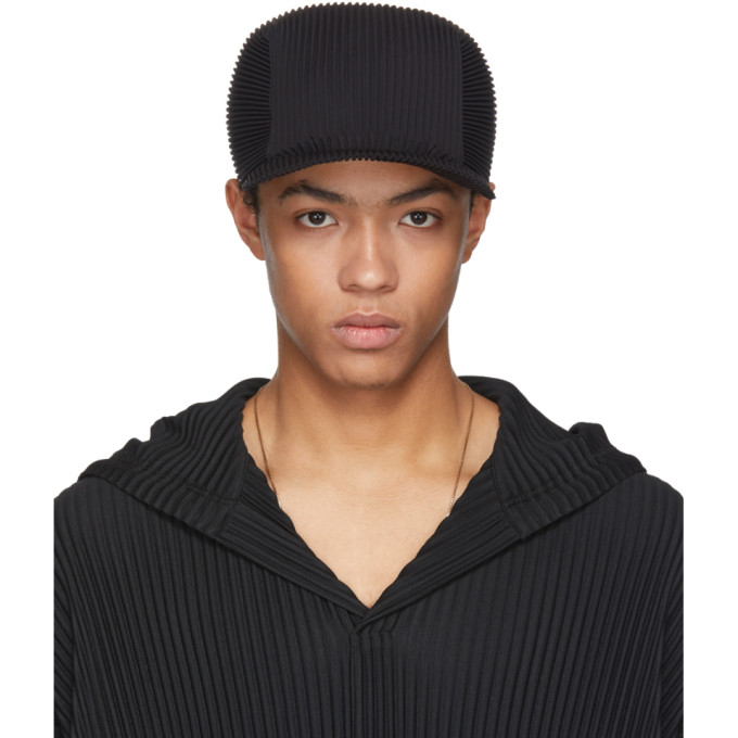 Black Pleated Cap Homme Pliss Lovaz7s