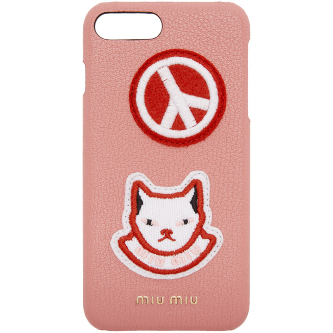7 Funda Pink Plus Iphone Cat Patch Mi pPq0w5qvx