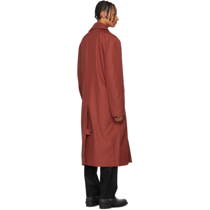 Trench Rouge Acne Surdimensionné Trench Surdimensionné Studios Studios Acne QxWrCBedo