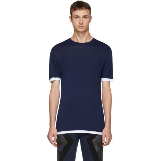 Barrett doble Neil 2017bluwht blanca camiseta y en azul 7wHgdaHxq6