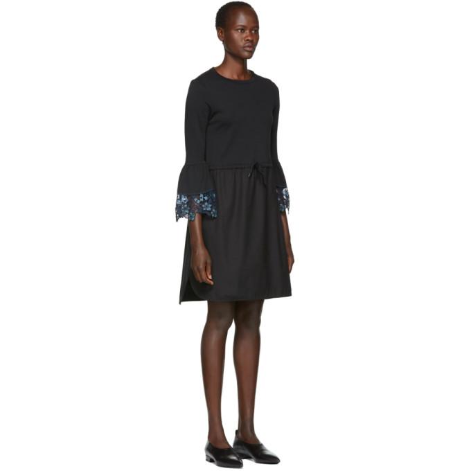 Black Detailed Cuff Dress See By Chlo wszU8v
