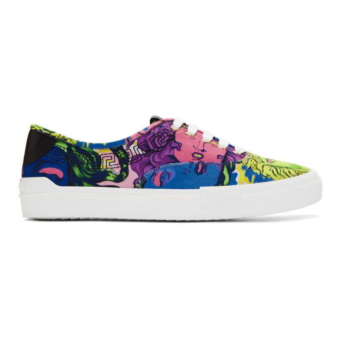 Versace Multicolor Medusa Sneakers 2014 new cheap online sale explore best prices for sale cheap low cost rRYCEQf1z7