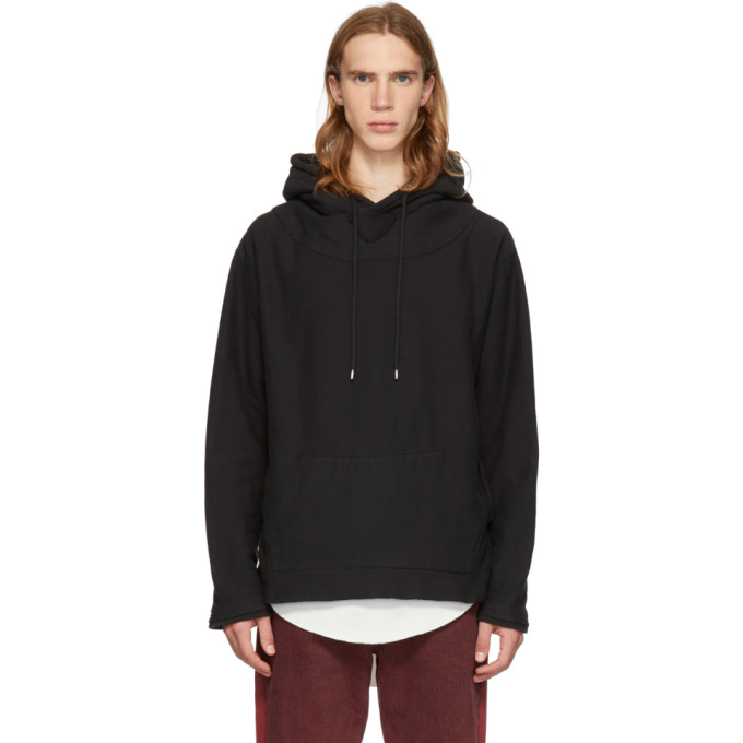 À Noir Capuche Pull Fraying Facetasm 3ALqj54cR