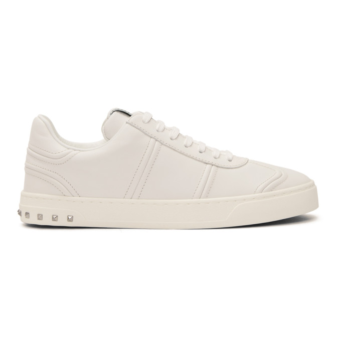 Garavani Flycrew Leather-panelled Suede Sneakers - GreenValentino vnRT0I