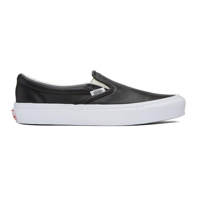Black Ua Og Classic Lx Slip On Sneakers by Vans