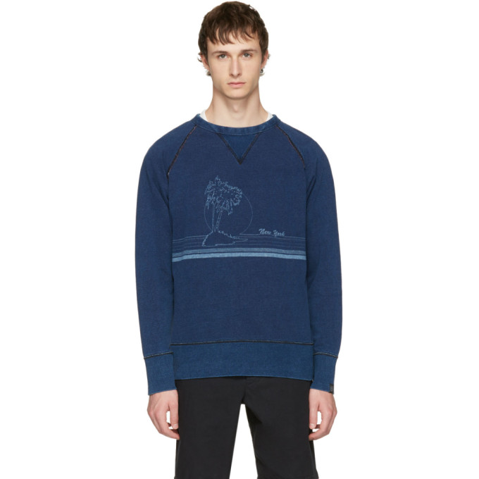 Indigo 'new York' Vacation Sweatshirt by Rag & Bone