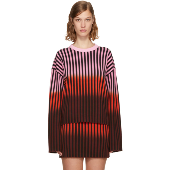 Multicolor Dip Dye Striped Sweater by Opening Ceremony
