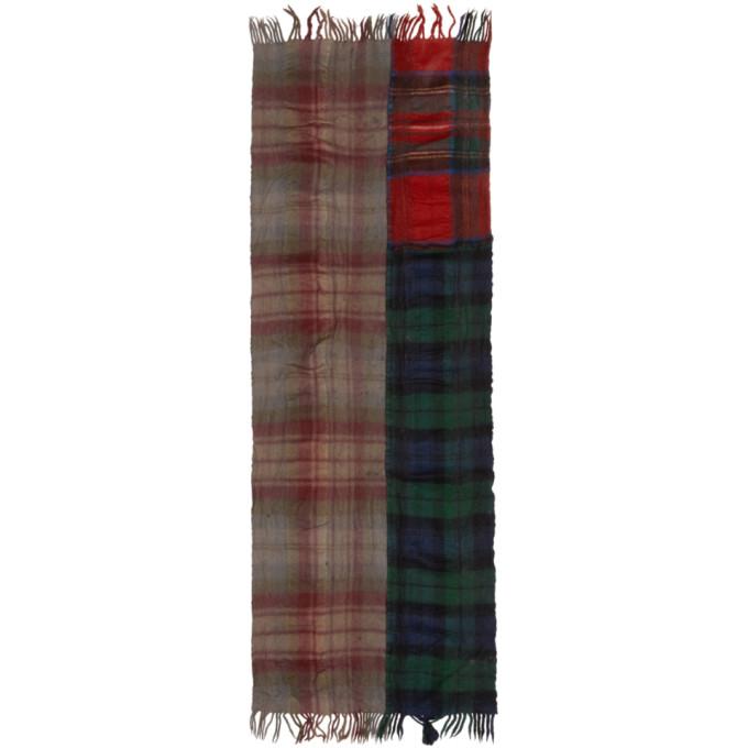 Multicolor Wool Tartan Mix Scarf by Comme Des GarÇons Shirt