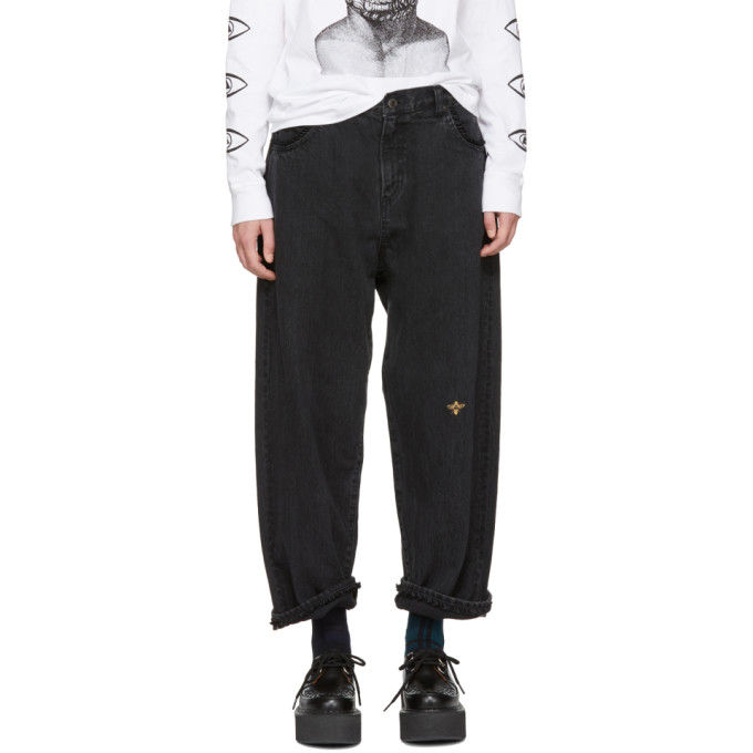 Undercover Black Ruffle Pocket Jeans