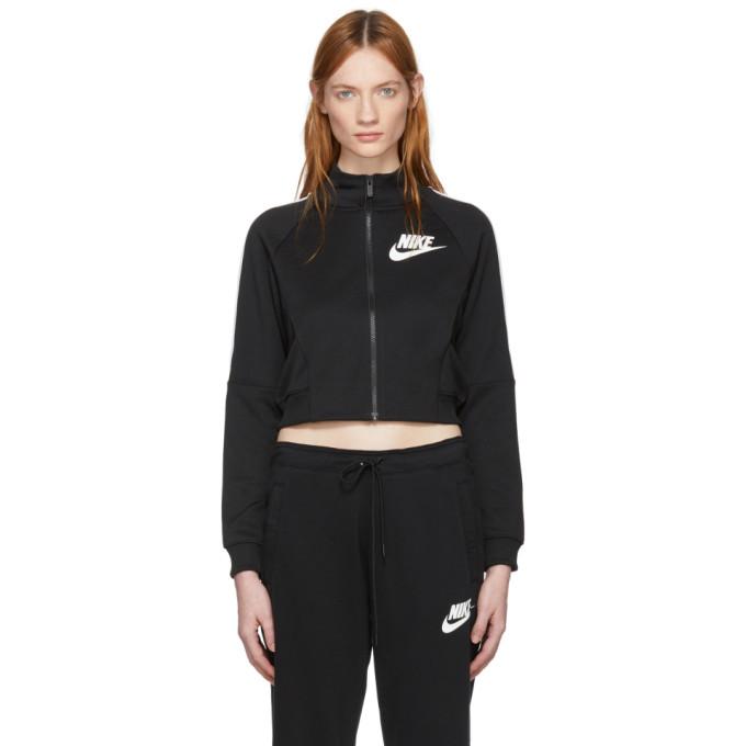 Black Cropped Polyknit Track Jacket by Nike