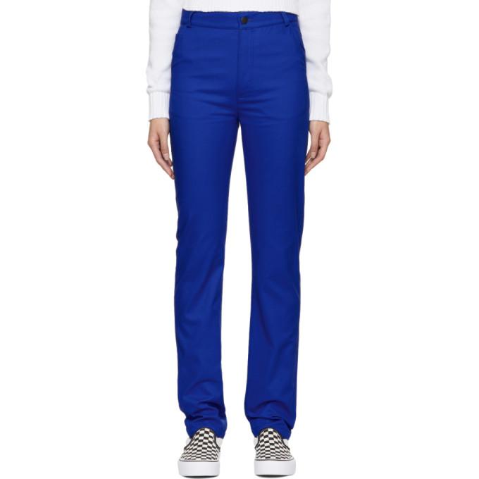 ANTON BELINSKIY Anton Belinskiy Blue Twill Trousers