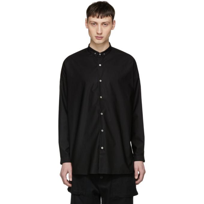ALMOSTBLACK Almostblack Black Long Button-Down Shirt