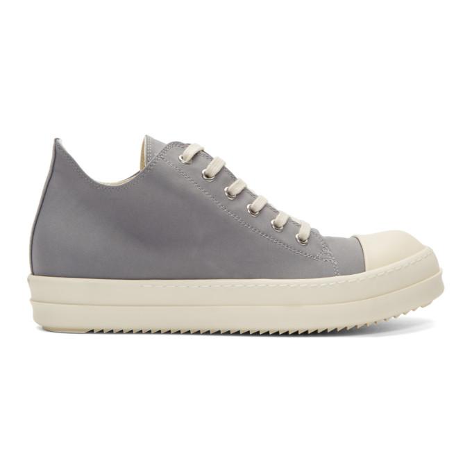 Rick Owens Drkshdw Grey & Off-White Low Sneakers