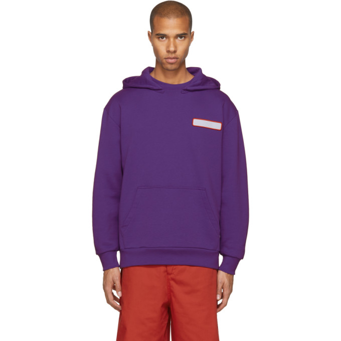 Acne Studios Cottons ACNE STUDIOS PURPLE SPILLED COCKTAIL FOG HOODIE