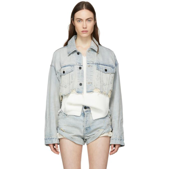 Vintage Bleach Blaze Crop Jacket