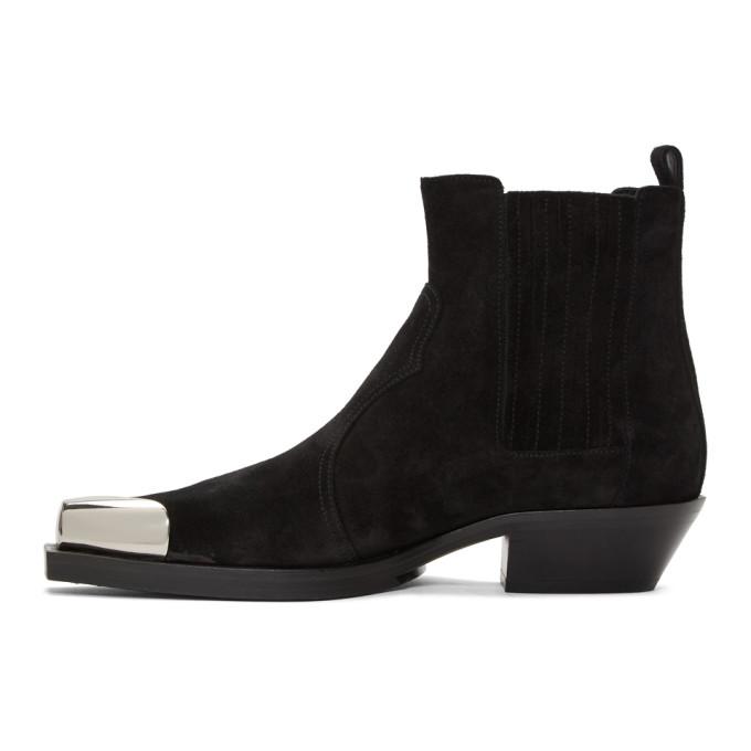 Balmain Suede Colt Western Boots