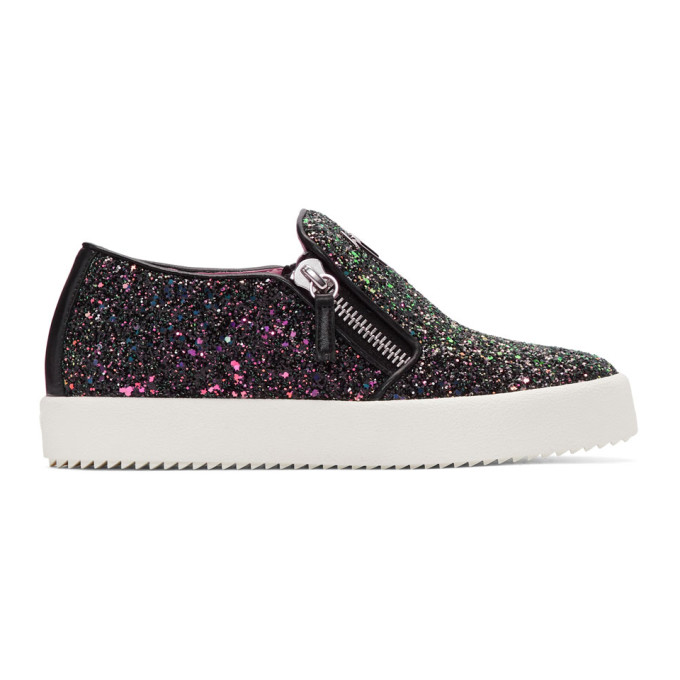 Giuseppe Zanotti SSENSE Exclusive Glitter May London Slip-On Sneakers