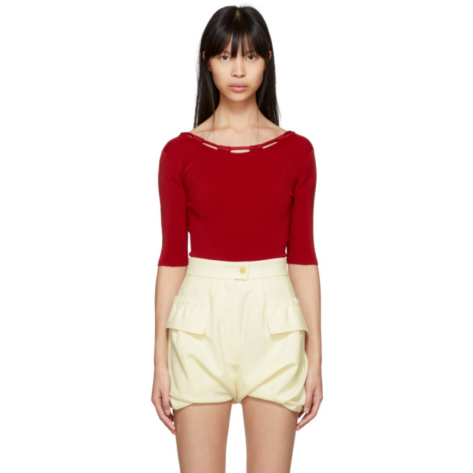 CARVEN Accessoires Bodysuit in Red