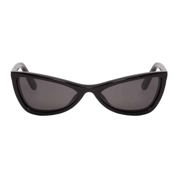 Balenciaga Slim Cateye Sunglasses In Black, 01A Shinybl