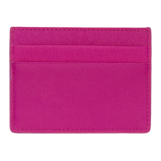 Pink Leather Card Holder by Balenciaga