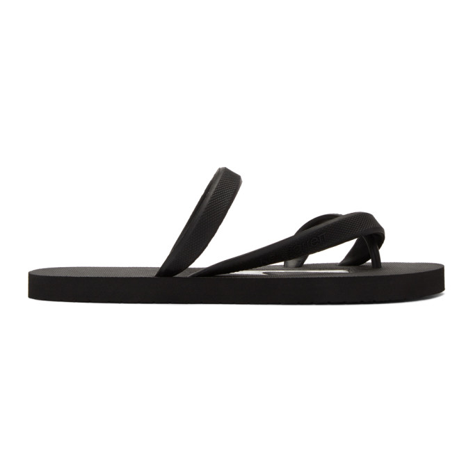 Neil Barrett Rubber Thunderbolt Sandals