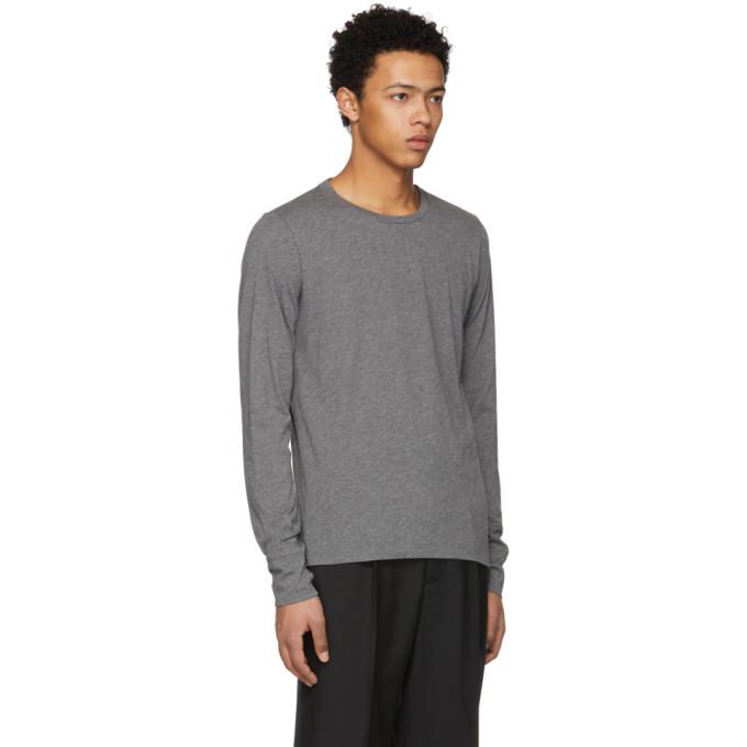 Grey Long Sleeve Marchston Burnout T-Shirt Burberry