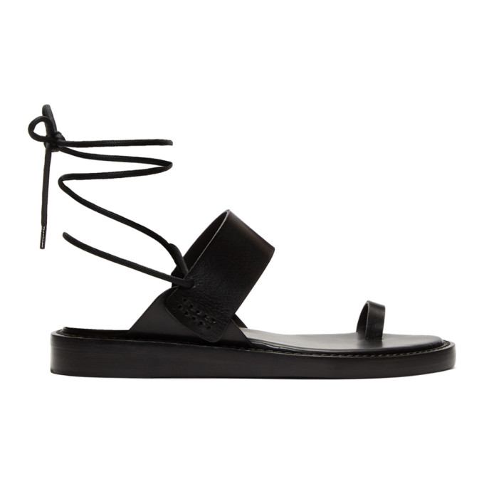 Black Vachetta Nero Sandals