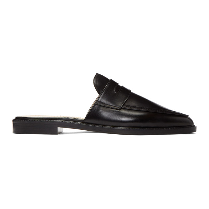 Thom Browne  BLACK PENNY LOAFER MULES