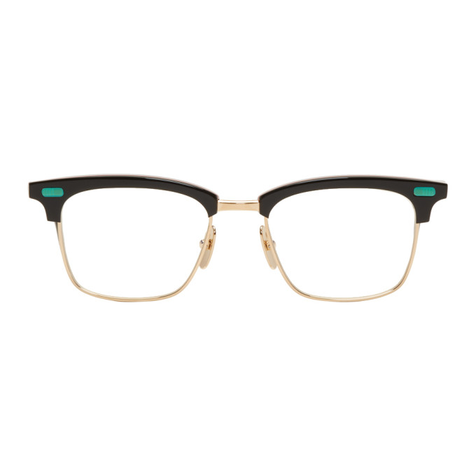Black & Gold Tb 711 Glasses by Thom Browne