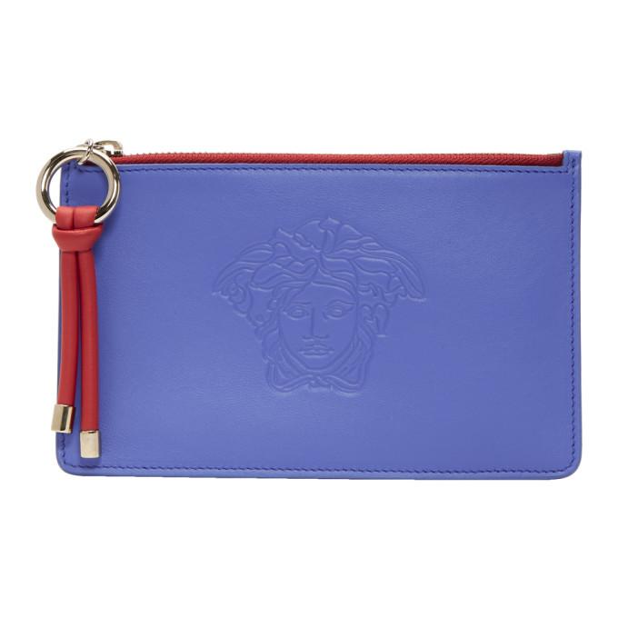 Versace  Blue & Red Day Dreamer Medusa Zip Pouch