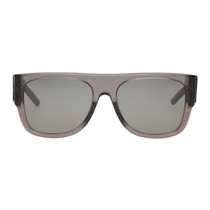 Grey Sl M16 Bold 80s Sunglasses by Saint Laurent