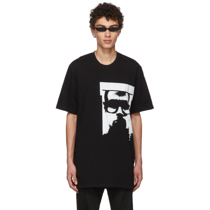 Black Graphic T Shirt by Julius