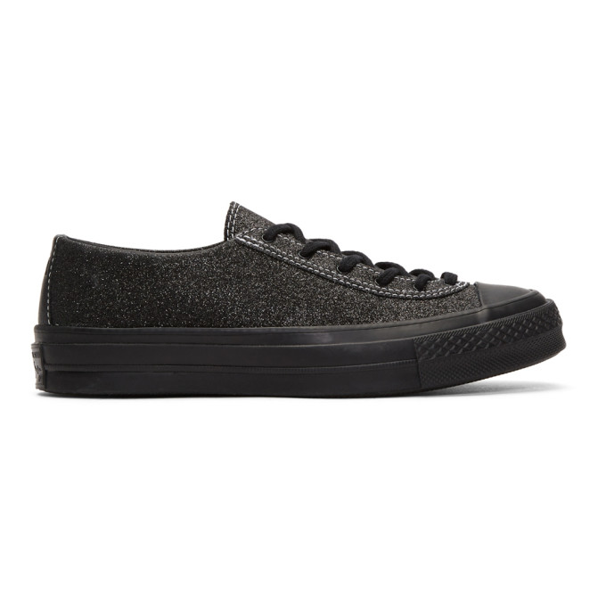 JW ANDERSON BLACK CONVERSE EDITION SPARKLE SNEAKERS