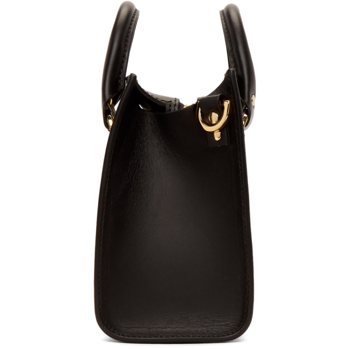 SOPHIE HULME MINI ALBION BOX LEATHER CROSS-BODY BAG, BLACK