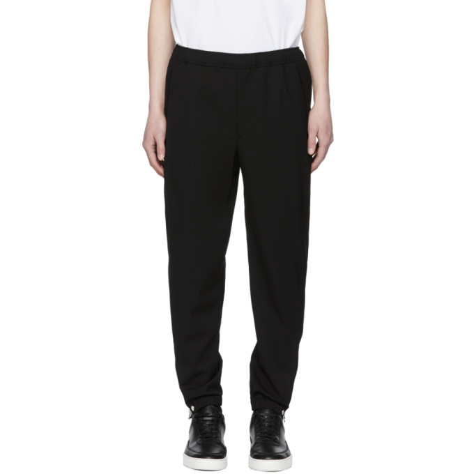 TIM COPPENS Tim Coppens Black Wool Staple Jogger Trousers