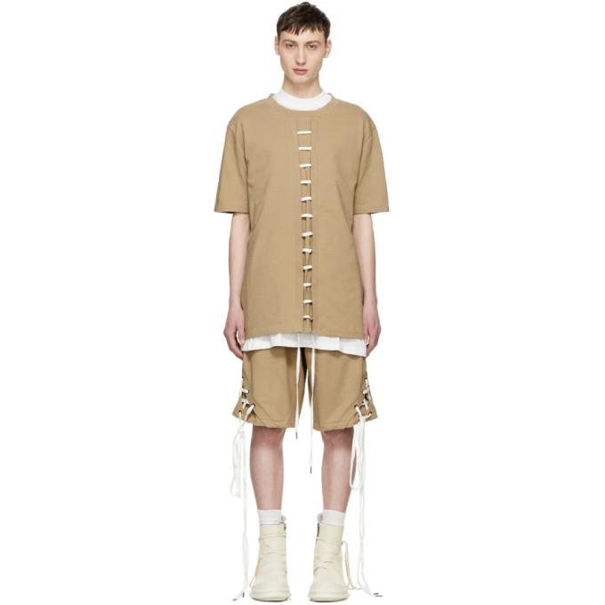 Beige Straight String T-Shirt D.Gnak