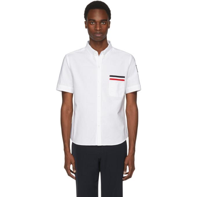 Moncler Gamme Bleu  White Flag Pocket Shirt