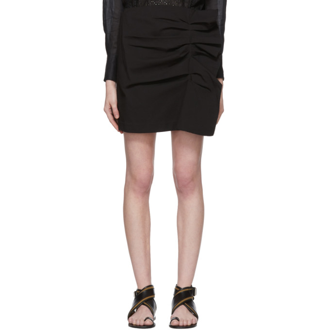 Black Lefly New Stretch Cotton Skirt by Isabel Marant