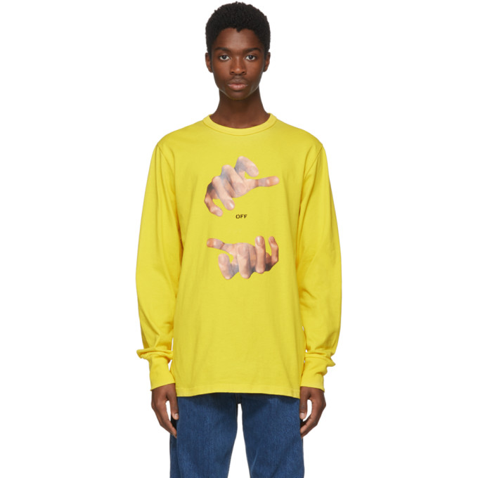 Yellow Long Sleeve Hands T Shirt by Off White