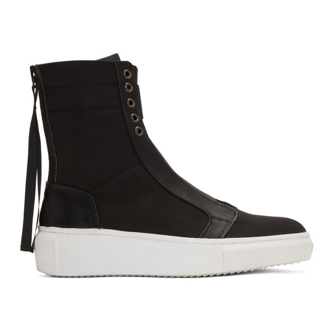 D BY D D By D Black Back Zip High-Top Sneakers