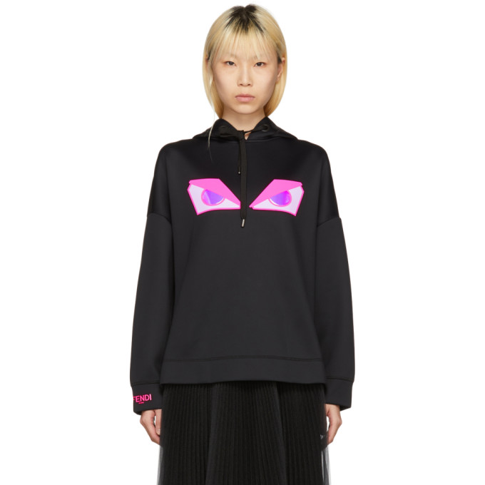 Black 'bag Bugs' Hoodie by Fendi