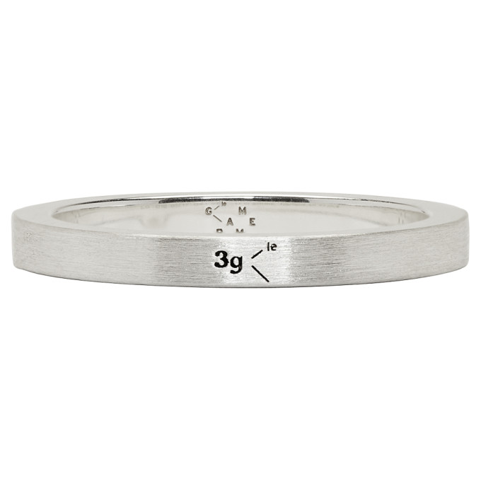LE GRAMME Le 3 Brushed Sterling Silver Ring - Silver