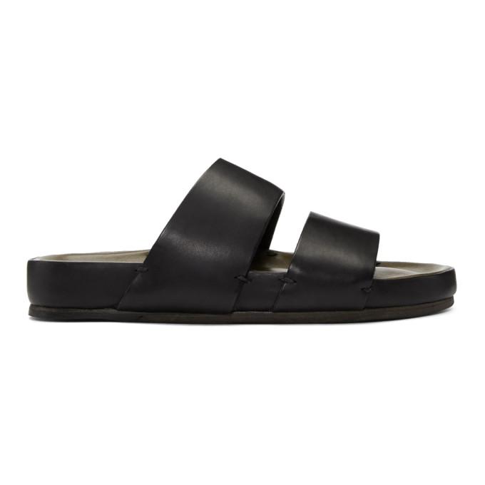 FEIT Feit Black Two-Strap Sandals