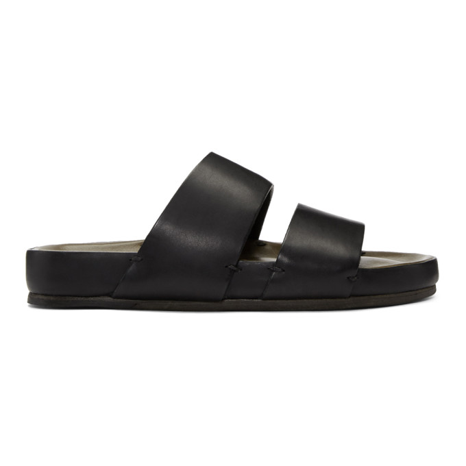 Black Two-Strap Sandals