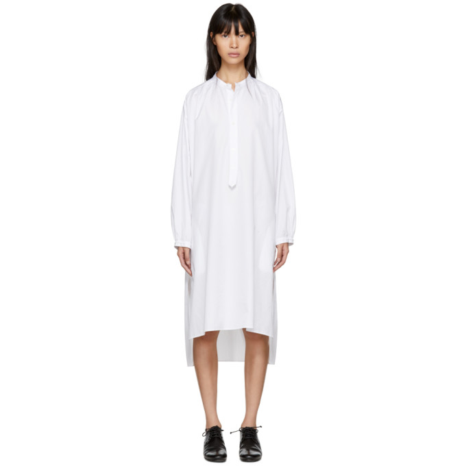 Y's WHITE LONG SHIRT DRESS