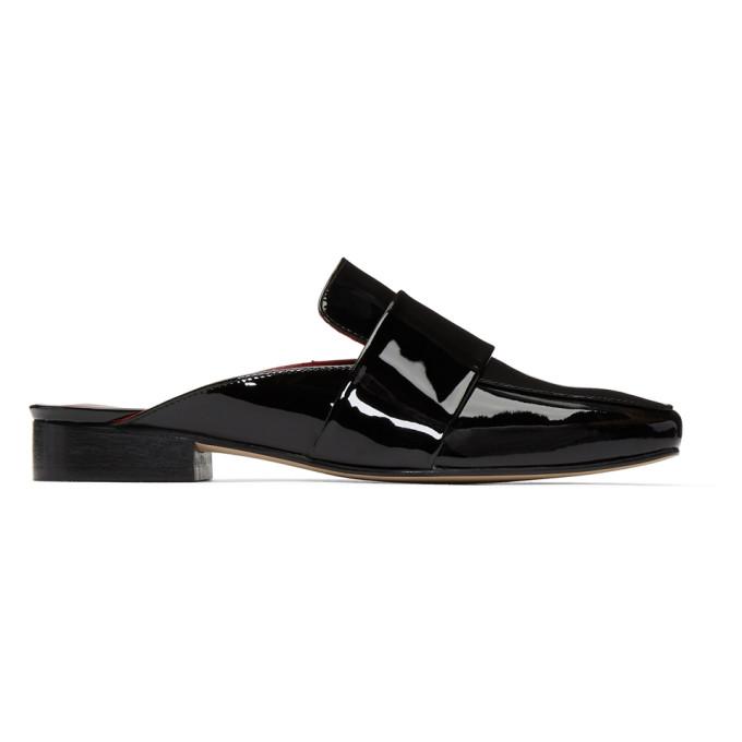 Dorateymur Black Patent Filiskiye Slip-On Loafers