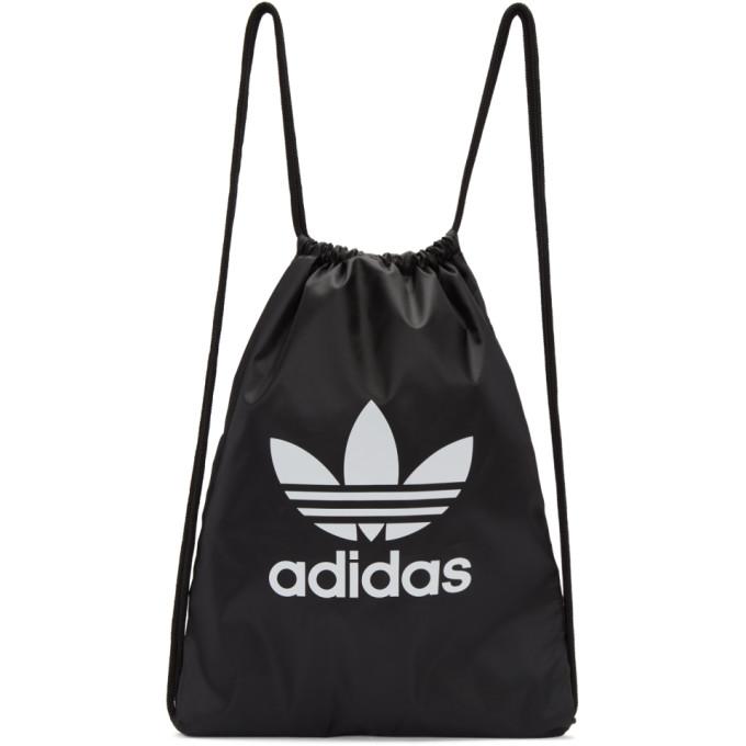 Adidas Originals Adidas Trefoil Drawstring Backpack - Black  ed84b559937dd